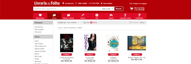 Secção de Livros sobre Cinema na Livraria da Folha. Clique na imagem para entrar.