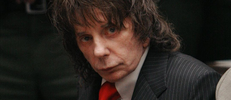 Music producer Phil Spector sits in a courtroom for his sentencing in Los Angeles Friday May 29 2009 Spector has been sentenced to 19 years to life in prison for the murder of actress Lana Clarkson AP Photo Al Seib Pool