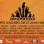 Artistas portugueses unem-se em concerto solidário para as vítimas dos fogos florestais