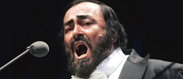 Resultado de imagem para o tenor italiano Luciano Pavarotti